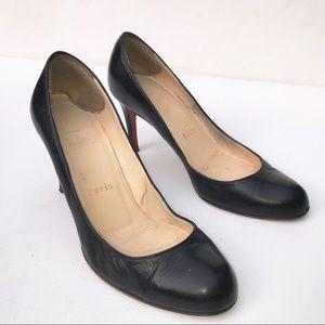 CHRISTIAN LOUBOUTIN black simple Pumps shoes 36